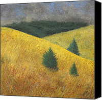 Storm Pastels Canvas Prints - Three Cedars Canvas Print by Garry McMichael