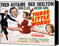 1950 Movies Canvas Prints - Three Little Words, Fred Astaire, Red Canvas Print by Everett