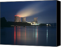 Meltdown Canvas Prints - Three Mile Island Nuclear Power Station Canvas Print by Martin Bond