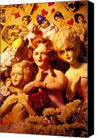Doll Canvas Prints - Three old dolls Canvas Print by Garry Gay