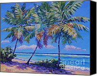 Grand Cayman Canvas Prints - Three Palms- East End Canvas Print by John Clark