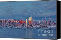 The City That Never Sleeps Canvas Prints - Three Times New York City Canvas Print by Susan Candelario