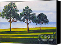 Diane Hewitt Canvas Prints - Three Trees in Bermuda Canvas Print by Diane Hewitt