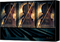 Vintage Photography Canvas Prints - Three Violins Canvas Print by Bob Orsillo