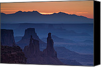 Mesa Arch Canvas Prints - Through Mesa Arch Canvas Print by Andrew Soundarajan