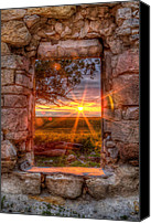 Old Abandoned House Canvas Prints - Through the Bedroom Window Canvas Print by Thomas Zimmerman