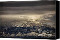 Sangre De Cristo Mountains Canvas Prints - Through the Clouds Canvas Print by Timothy Johnson
