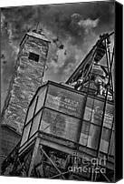 Feed Mill Canvas Prints - Through the Mill BW Canvas Print by Ken Williams