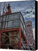 Feed Mill Canvas Prints - Through the Mill Canvas Print by Ken Williams