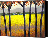Treescape Canvas Prints - Through The Trees Canvas Print by John  Nolan