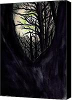 Creepy Painting Canvas Prints - Thru to the Light  Canvas Print by Renee Catherine Wittmann