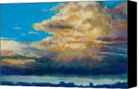 Storm Clouds Pastels Canvas Prints - Thundeclouds Canvas Print by Billie Colson