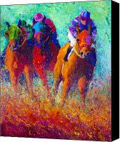 Foal Painting Canvas Prints - Thundering Hooves Canvas Print by Marion Rose