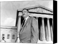 D.c. Photo Canvas Prints - Thurgood Marshall Canvas Print by Granger