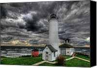St Lawrence River Canvas Prints - Tibbetts Point Lighthouse  Canvas Print by Lori Deiter