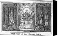 Tibetan Buddhism Canvas Prints - Tibet: Grand Lama, 1832 Canvas Print by Granger