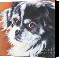 Tibetan Canvas Prints - Tibetan Spaniel Canvas Print by Lee Ann Shepard