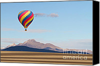 Hot Air Balloons Canvas Prints - Ticket To Paradise Canvas Print by James Bo Insogna