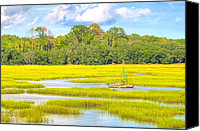 Lowcountry Canvas Prints - Tidal Castaway Canvas Print by Scott Hansen