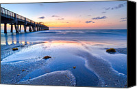 Florida Bridge Canvas Prints - Tidal Pools Canvas Print by Debra and Dave Vanderlaan