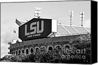Fighting Canvas Prints - Tiger Stadium Canvas Print by Scott Pellegrin