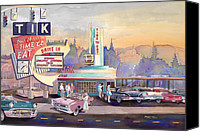 Gto Painting Canvas Prints - Tik Tok Drive-Inn Canvas Print by Mike Hill