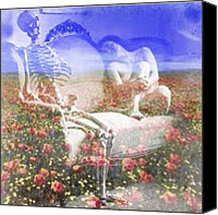Teg Canvas Prints - Til Death Canvas Print by Casi Wonderland