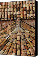 Dubrovnik Canvas Prints - Tile Roof In Croatia Canvas Print by Bob Christopher