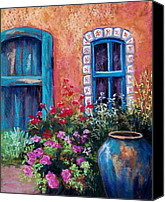 Antique Pastels Canvas Prints - Tiled Window Canvas Print by Candy Mayer