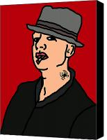 Caricature Canvas Prints - Tim Armstrong Canvas Print by Jera Sky
