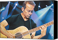 Guitar Player Canvas Prints - Tim Reynolds and Lights Canvas Print by Joshua Morton
