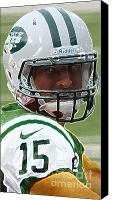 Team Canvas Prints - Tim Tebow Art Deco - New York Jets -  Canvas Print by Lee Dos Santos