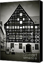 Unesco Canvas Prints - Timber-frame house Weimar Canvas Print by Christine Till