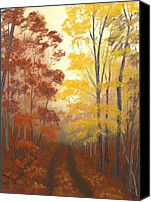 Forest Pastels Canvas Prints - Timber Road Canvas Print by Garry McMichael