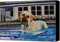 Pool Break Canvas Prints - Time For A Break Canvas Print by Joy DiNardo Bradley         DiNardo Designs                     