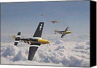 P51 Mustang Canvas Prints - Time for Home Canvas Print by Pat Speirs