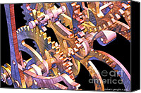 Energetic Canvas Prints - Time Mechanics V1 Canvas Print by Michael C Geraghty