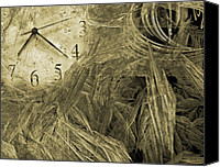 Minute Digital Art Canvas Prints - Time Piece I Canvas Print by East Coast Barrier Islands Betsy A Cutler