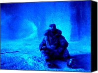 Hera Mixed Media Canvas Prints - Time Stopped in a Huge Snow Ice  Grotte Canvas Print by Colette Hera  Guggenheim