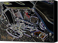 Eric Dee Canvas Prints - Time To Ride Canvas Print by Eric Dee