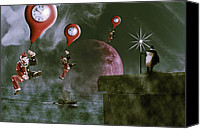 Baloons Canvas Prints - Time travel Canvas Print by Nathan Wright