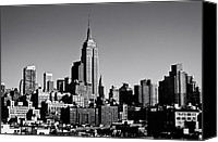 Empire Photo Canvas Prints - Timeless - The Empire State Building and the New York City Skyline Canvas Print by Vivienne Gucwa