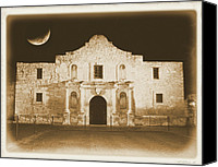 Crescent Moon Canvas Prints - Timeless Alamo Canvas Print by Carol Groenen