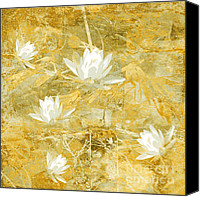 Flower Photograph Canvas Prints - Timeless Beauty photo collage Canvas Print by Ann Powell