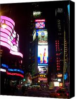 Times Square Photo Canvas Prints - Times Square 1 Canvas Print by Anita Burgermeister