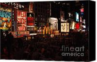 Times Square Photo Canvas Prints - Times Square 2 Canvas Print by Alexa Gurney