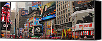 Times Square Photo Canvas Prints - Times Square 4 Canvas Print by Andrew Fare