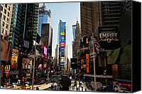 Nyc Canvas Prints - Times Square Canvas Print by Benjamin Matthijs