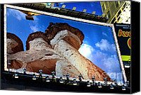 Times Square Digital Art Canvas Prints - Times Square Billboards Canvas Print by Pravine Chester