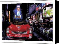 New York City  Canvas Prints - Times Square ....Cadillac Canvas Print by Mike Hill
